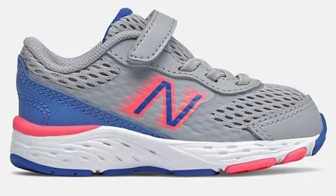New Balance 680v6 Toddler Girl Running Aluminum-Cobalt-Guava | Sneakers Plus