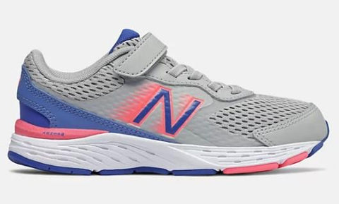 New Balance 680v6 Girl Preschool Shoe Aluminum-Cobalt-Guava | Sneakers Plus