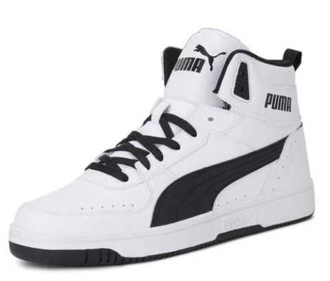 Puma Rebound Joy Mens Basketball Shoes White-Black | Sneakers Plus