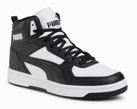 Puma Rebound Joy Mens Basketball Shoe Black-White | Sneakers Plus