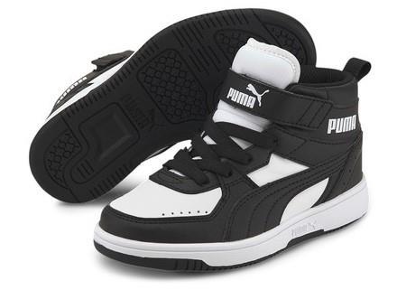 Puma Rebound Joy PS Kids Basketball Black-White | Sneakers Plus