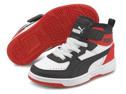 Puma Rebound Joy PS Kid Basketball Shoe Black-Red | Sneakers Plus