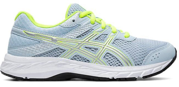 Asics Contend GS Girls Running Shoes Soft Sky-Pure Silver | Sneakers Plus