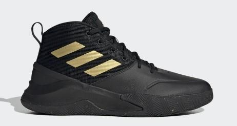 Adidas Own The Game Mens Basketball Shoe Black-Gold | Sneakers Plus