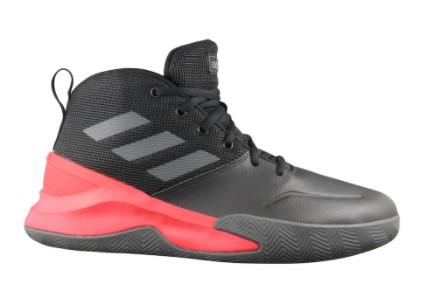 Adidas OwnTheGame Mens Basketball Shoes Black-Red | Sneakers Plus