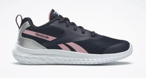 Reebok Rush Runner Girls Running Shoe Navy-Pink-Silver | Sneakers Plus
