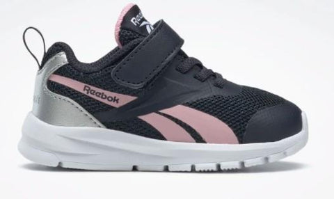 Reebok Rush Runner Toddler Running Shoe Navy-Pink-Silver | Sneakers Plus
