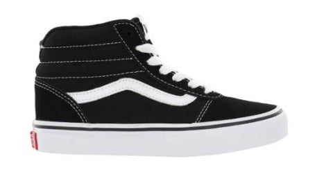 Vans Ward Hi Boys Hi Top Skate Shoe Black-White | Sneakers Plus