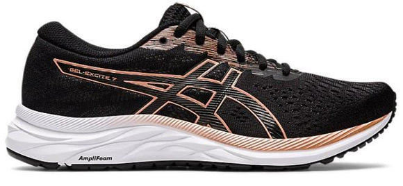 Asics Gel-Excite Wide (D) Women Running Black-Rose Gold | Sneakers Plus