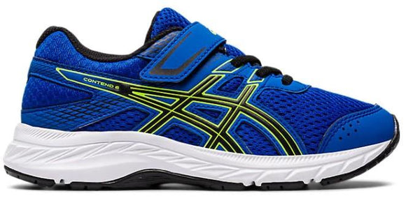 Asics Contend 6 PS Boys Running Shoes Tuna Blue-Black | Sneakers Plus