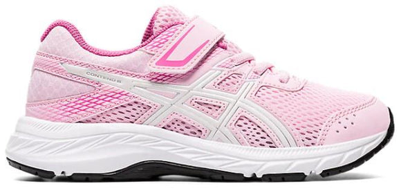 Asics Contend 6 PS Girls Running Shoes Cotton Candy-White | Sneakers Plus
