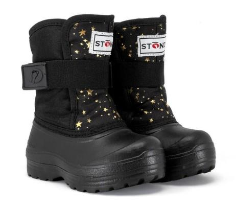 Stonz Scout Toddler Winter Boots Black-Star | Sneakers Plus