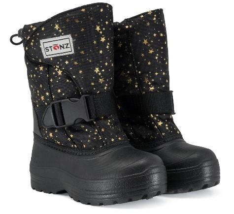 Stonz Trek Toddler Girls Winter Boots Black-Gold | Sneakers Plus