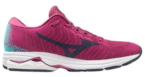 Mizuno Wave Rider WaveKnit 3 Womens Running Boysenberry-Medieval Blue | Sneakers Plus