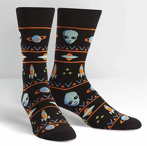SITM Mens Crew Socks | Alien Sweater Sighting | Sneakers Plus