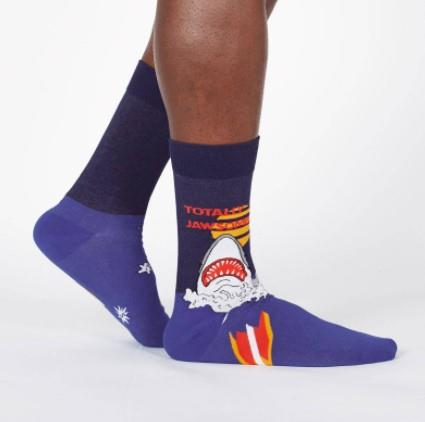 SITM Mens Crew Socks Totally Jawsome | Sneakers Plus
