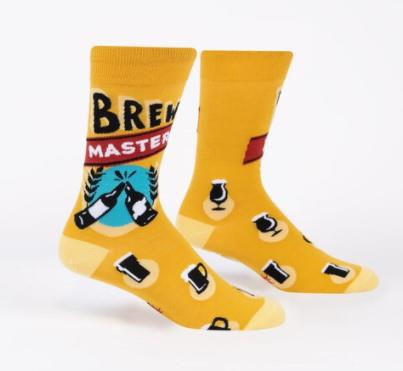 Socks It To Me Mens Crew Socks Brew Master | Sneakers Plus