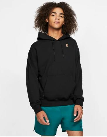 Nike Court Heritage Mens Hoodie Black | Sneakers Plus