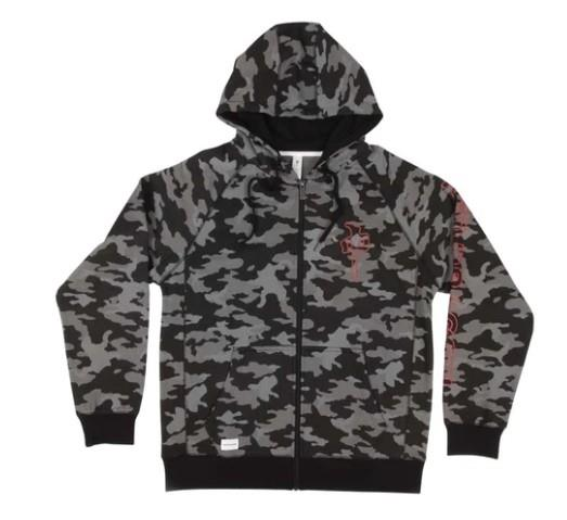 RDS Zip Outliner Mens Hoodie Black Camo | Sneakers Plus