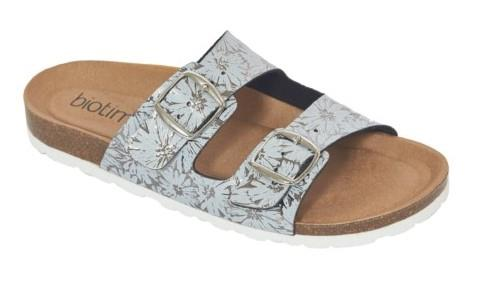 Biotime Robbie Womens Sandals Pewter Printed Leaf | Sneakers Plus