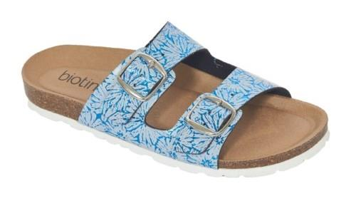 Biotime Robbie Womens Sandals Blue Printed Leaf | Sneakers Plus