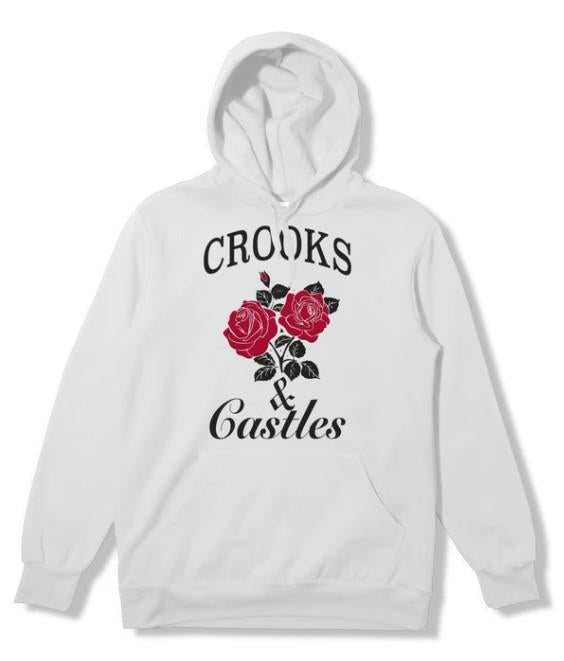 Crooks & Castles Roses Mens Hoodie White | Sneakers Plus