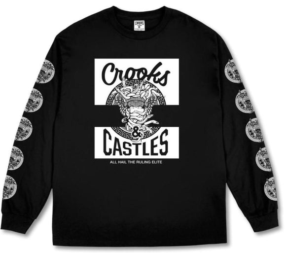 Crooks & Castles Klepto Medusa L/S Mens Tee Black | Sneakers Plus