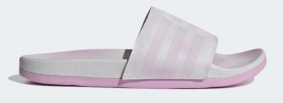Adidas Adilette Comfort Womens Slides Dash Grey / Clear Lilac / Cloud White | Sneakers Plus