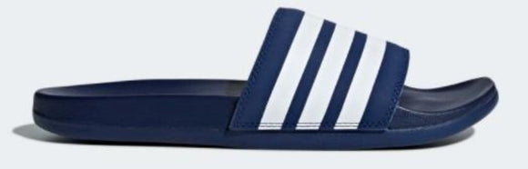 Adidas Adilette Comfort Mens Slide Dark Blue / Cloud White / Dark Blue | Sneakers Plus