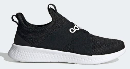 Adidas PureMotion Adapt Womens Slip On Core Black / Cloud White / Grey Five | Sneakers Plus