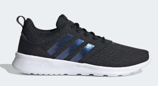 Adidas QT Racer 2.0 Womens Shoe Core Black / Iridescent / Grey Six | Sneakers Plus