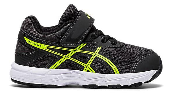 Asics Contend 6 Toddler Running Shoe Grey-Safety Yellow | Sneakers Plus