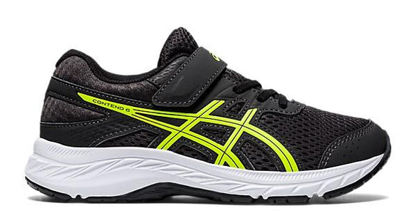 Asics Contend 6 Boys Running Shoes Grey-Safety Yellow | Sneakers Plus