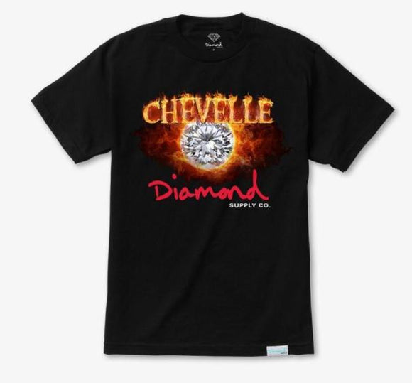Diamond X Chevelle Burn Out Mens Tee Black | Sneakers Plus
