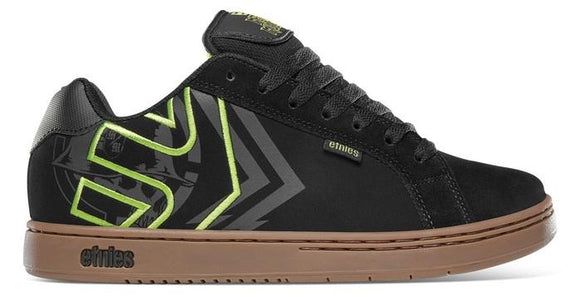 Etnies Fader Metal Mulisha Mens Skate Shoes Black-Green-Gum | Sneakers Plus
