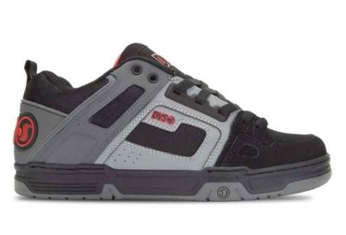 DVS Comanche Mens Skate Shoes Black-Charcoal-Red | Sneakers Plus
