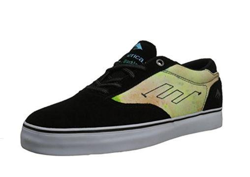 Emerica Provost X Toy Machine Mens Skate Shoe Black/Blue/White |Sneakers Plus