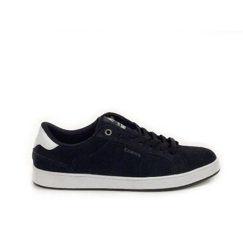 Emerica Leo Dos Mens Skate Shoe Black/White |Sneakers Plus