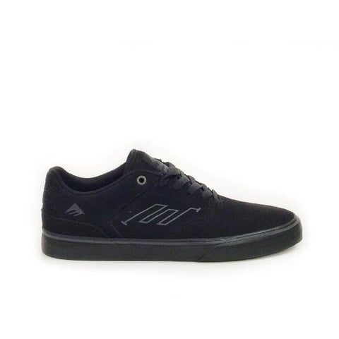 Emerica Reynolds Lo Vulc Mens Skate Shoe Black/Black |Sneakers Plus