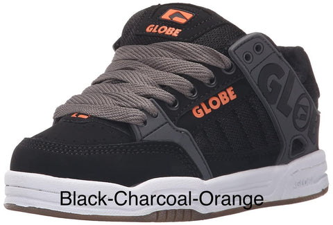 Globe Tilt Kids Skate Shoe Black/Char/Or |Sneakers Plus