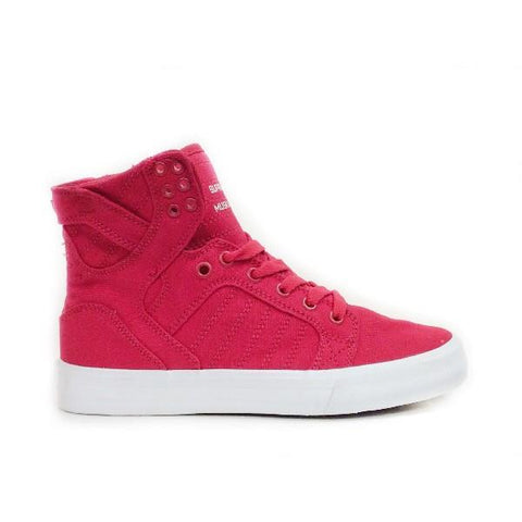 Supra Skytop D Womens Hi Top Skate Shoe Red/White |Sneakers Plus
