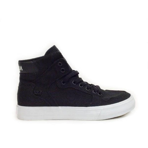 Supra Vaider D Womens Hi Top Sneaker Black/White |Sneakers Plus