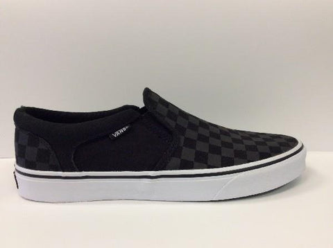 Vans Asher Slip On Checkers Mens |Sneakers Plus