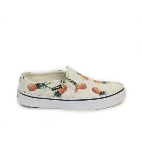 Vans Asher Slip On Womens Skate Shoe Pineapple |Sneakers Plus