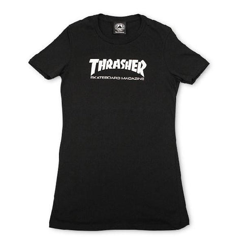 Thrasher Skate Mag Tee Womens T-shirts Black-White |Sneakers Plus