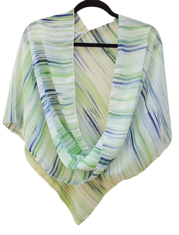 Chiffon Crossover Poncho Top or Scarf
