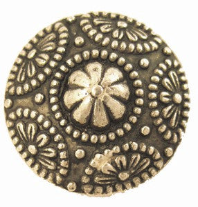 Dome Flower Magnetic Pin in Gold Tone