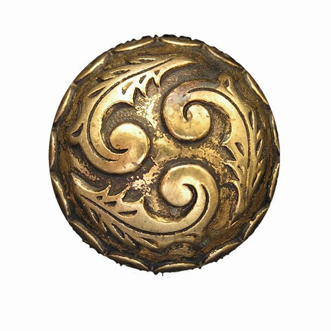 Plume Domed Magnetic Pin in Gold Tone