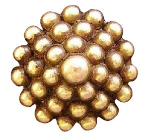 Hobnail Magnetic Pin in Gold or Silver Tone