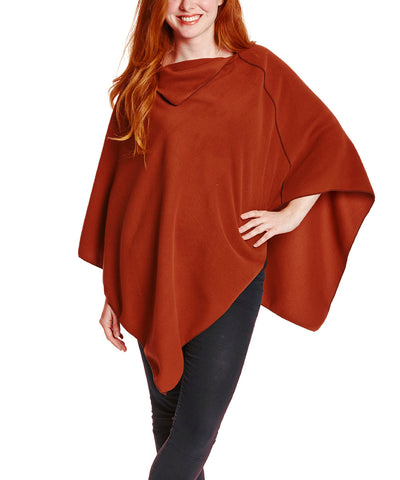 Brick NunaWrap Fleece Poncho